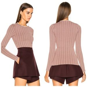STELLA MCCARTNEY  Fitted Sweater in Burgundy Mix